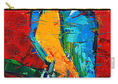 Coco The Talkative Parrot Carry-all Pouch by Mona Edulesco