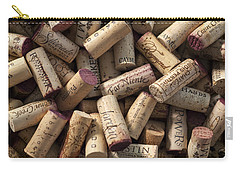 Collection Of Fine Wine Corks Carry-all Pouch by Adam Romanowicz