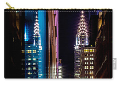 Color Of Manhattan Carry-all Pouch by Az Jackson