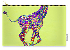 Colorful Baby Giraffe Carry-all Pouch by Jane Schnetlage