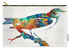 Colorful Bird Art - Sweet Song - By Sharon Cummings Carry-all Pouch by Sharon Cummings