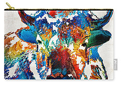 Colorful Buffalo Art - Sacred - By Sharon Cummings Carry-all Pouch by Sharon Cummings