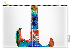 Colorful Electric Guitar 2 - Abstract Art By Sharon Cummings Carry-all Pouch by Sharon Cummings