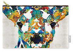 Colorful Giraffe Art - Curious - By Sharon Cummings Carry-all Pouch by Sharon Cummings