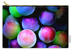 Colorful Grapes - Digital Art Carry-all Pouch by Carol Groenen