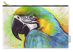 Macaw Painting Carry-all Pouch by Olga Shvartsur