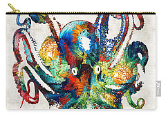 Colorful Octopus Art By Sharon Cummings Carry-all Pouch by Sharon Cummings