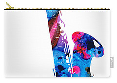 Colorful Saxophone 2 By Sharon Cummings Carry-all Pouch by Sharon Cummings
