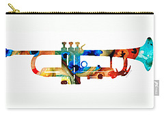 Colorful Trumpet Art By Sharon Cummings Carry-all Pouch by Sharon Cummings
