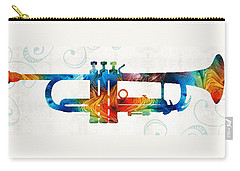 Colorful Trumpet Art Color Fusion By Sharon Cummings Carry-all Pouch by Sharon Cummings