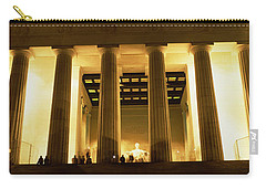 Columns Surrounding A Memorial, Lincoln Carry-all Pouch by Panoramic Images