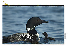Common Loon Family Carry-all Pouch by James Peterson