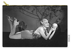 Contemplating A Grapefruit Carry-all Pouch by Elmer Fryer