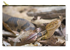Copperhead In The Wild Carry-all Pouch by Betsy Knapp