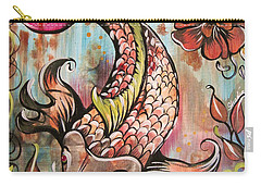 Coy Koi Carry-all Pouch by Shadia Derbyshire