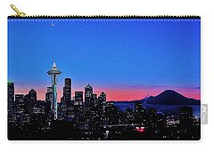Crescent Moon Over Seattle Carry-all Pouch by Benjamin Yeager