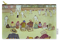 Cricket On The Green, 1987 Watercolour On Paper Carry-all Pouch by Gillian Lawson