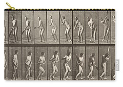 Cricketer Carry-all Pouch by Eadweard Muybridge