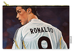 Cristiano Ronaldo Carry-all Pouch by Paul Meijering