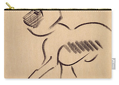 Crouching Monkey Carry-all Pouch by Henri Gaudier-Brzeska