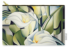 Cubist Lilies Carry-all Pouch by Catherine Abel
