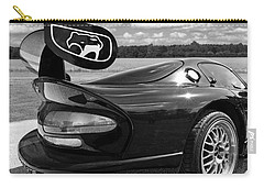 Curvalicious Viper Black And White - Square Carry-all Pouch by Gill Billington