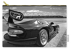 Curvalicious Viper In Black And White Carry-all Pouch by Gill Billington