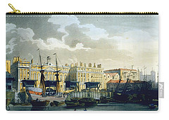 Custom House From The River Thames Carry-all Pouch by T. & Pugin, A.C. Rowlandson