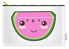 Cute Watermelon Illustration Carry-all Pouch by Pati Photography