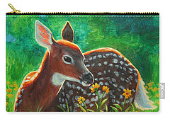 Daisy Deer Carry-all Pouch by Crista Forest