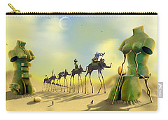 Dali On The Move  Carry-all Pouch by Mike McGlothlen