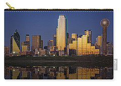 Dallas At Dusk Carry-all Pouch by Rick Berk