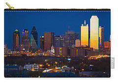 Dallas Skyline Panorama Carry-all Pouch by Inge Johnsson