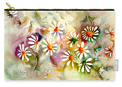 Dance Of The Daisies Carry-all Pouch by Neela Pushparaj