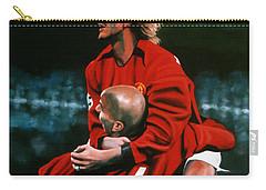 David Beckham And Juan Sebastian Veron Carry-all Pouch by Paul Meijering
