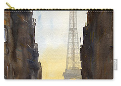 Dawn In Paris Carry-all Pouch by James Nyika