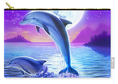 Day Of The Dolphin Carry-all Pouch by Robin Koni