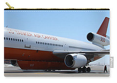 Carry-all Pouch featuring the photograph Dc-10 Air Tanker At Rapid City by Bill Gabbert