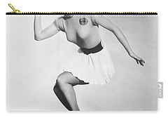 Debbie Reynolds Throws A Pass Carry-all Pouch by Underwood Archives