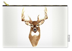 Deer - Front View Carry-all Pouch by Michael Vigliotti