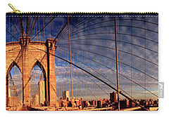 Details Of The Brooklyn Bridge, New Carry-all Pouch by Panoramic Images