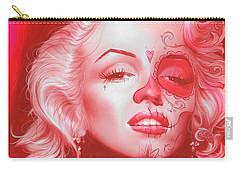 Marilyn Monroe - ' Dia De Los Monroe ' Carry-all Pouch by Christian Chapman Art