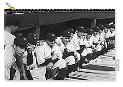 Dimaggio In Yankee Dugout Carry-all Pouch by Underwood Archives
