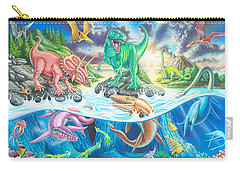 Dinosaur Island Carry-all Pouch by Mark Gregory