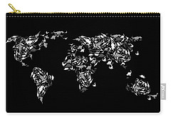 Dinosaur Map Of The World 3 Carry-all Pouch by Mark Ashkenazi