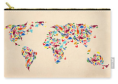 Dinosaur Map Of The World  Carry-all Pouch by Mark Ashkenazi
