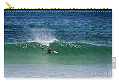 Diving Beneath The Curl Carry-all Pouch by Mike Dawson