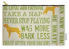 Dog Wisdom Carry-all Pouch by Debbie DeWitt