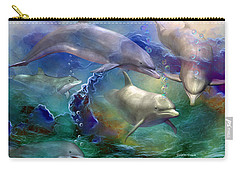 Dolphin Dream Carry-all Pouch by Carol Cavalaris