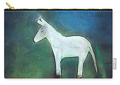 Donkey, 2011 Oil On Canvas Carry-all Pouch by Roya Salari